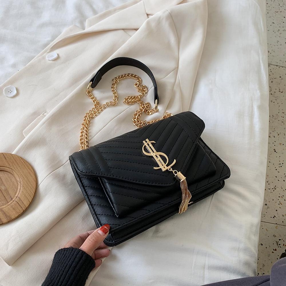 กระเป๋าถือแฟชั่น2020แฟชั่นผู้หญิงหนัง Messenger ไหล่สำหรับ Daily Designer หญิง Crossbody กระเป๋าสีดำ