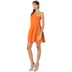 Susana Monaco One Shoulder Gather Flare Dress