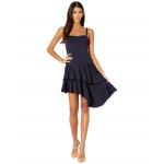 Susana Monaco Thin Strap Cascade Ruffle Dress